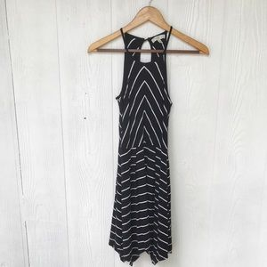 Love, Fire Dress in Black with White Stripes XS ⭐️